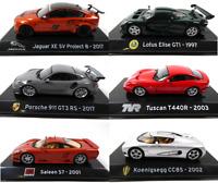 Lot de 6 Voitures de Sport 1/43 IXO Supercars Diecast Model car SL14