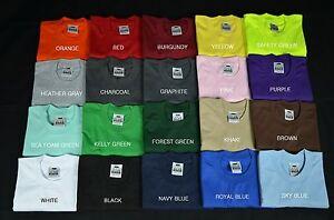 1 Pro Club New Heavy Weight T-shirt Tee Color Plain Blank S-7XL Proclub Crewneck