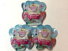 (3)Disney Whisker Haven Pop & Stick Blind Bags Series 1 Palace Pets Mini figures
