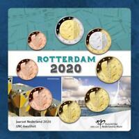 Niederlande - Rotterdam - KMS 2020 unc. - 3,88 Euro - 1 Cent - 2 Euro - Coincard