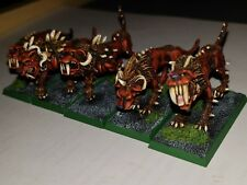 Warhammer chaos flesh hounds metal painted high level unit of 5 B