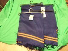 lot of 4 heat xtreme winter gear  scarfs 100% polar fleece blue & orange