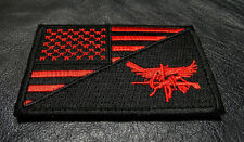 USA Flag Tactical SWAT Eagle Split 3 x 2 inch RED HOOK tactical swat PATCH