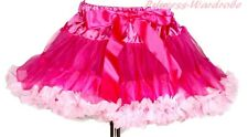 Hot Light Pink Full Pettiskirt Petti Skirt Dance Tutu Dress For Teen Girl 8-10Y