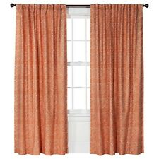 "Threshold Red Coral Aztec Diamond Curtain Window Panel   54"" X 84"" New Original"