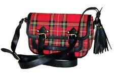 Traditional Royal Stewart Tan Ladies Satchel Handbag - Red Tartan HC019