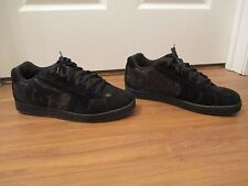 Used Worn Size 13 DC Shoes Net SE Skateboard Shoes Black & Dark Gray