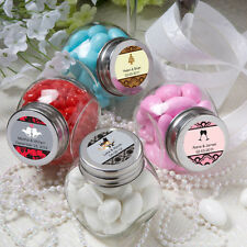 36 Personalized Mini Candy Jars Birthday Baby Party Wedding Favors
