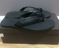 Bottega Veneta Mens Black Crocodile Flip Flop Sandal Sz 11.5 New With Box
