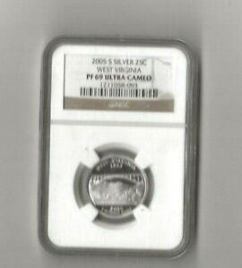 2007 s silver West Virginia statehood quarter NGC PF 69 Ultra Cameo