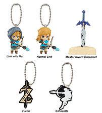 The Legend of Zelda Breath of Wild Mascot PVC Keychain Figure~ Set of Five @9620
