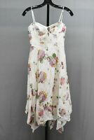 WAYF Hampshire Floral Print Handkerchief Midi Dress, Women's Size XS, Ivory NEW
