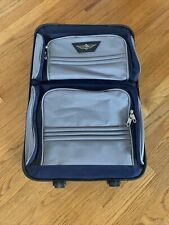 American Traveler Blue/gray Suitcase carry on