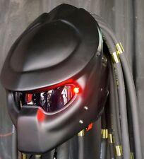 PRO PREDATOR CASCO MATT BLACK MOTORCYCLE HELMET CUSTOM ELECTRIC MOTO
