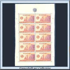 1946 San Marino Foglio UNRRA Minifoglio Bolaffi RARO Nuovo Integro **