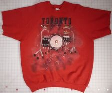 Rolling Stones Toronto Music in the City Hand Painted XL Red Sweatshirt w/Pin