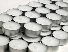 100 Teelichter 6 Stunden Brenndauer 39 x 18 mm Gastro Qualität Teelicht Weiß