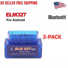 2X Mini ELM327 V2.1 OBD2 OBDII Bluetooth Adapter Auto Scanner TORQUE ANDROID