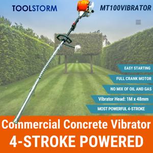TOOLSTORM 4-STROKE Handheld Petrol Commercial Concrete Vibrator 48mm Hard Nose