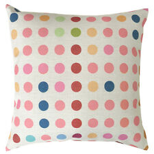 "18""x45cm Colorful Dots Polka Kids Nursery Geometric Linen Pillow Cushion Cover"
