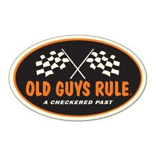 "OLD GUYS RULE "" A CHECKERED PAST "" 3"" X 5"" HIGH QUALITY DECAL STICKER"