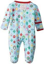 Jojo Maman Bebe Baby Girls Bauble Sleepsuit - Blue-sz: Newborn