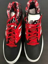 Mens New Balance M4040BR2 Mid Metal Baseball Cleats Black/red - Size 12.5 D