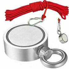 500Lb Fishing Magnet Kit Strong Neodymium Pull Force Treasure Hunt With 10M Rope