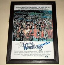 """The Warriors Signed & Framed 12x 8"""" Poster Michael Beck"""