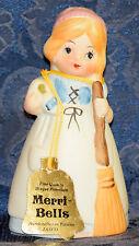 Vintage Collectible Jasco Bisque Porcelain Merri-Bells Girl w/Broom Bell, 1978