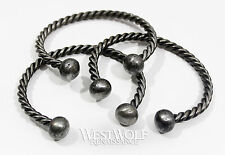 Hand-Forged Twisted Steel Bracelet --- Viking/Norse/Celtic/Medieval/Torc/Jewelry