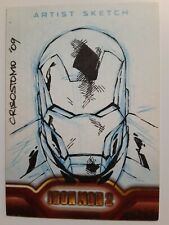 UPPER DECK Iron Man 2  Sketch Card by Dennis Crisostomo