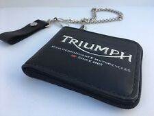 Handmade Triumph Biker Wallet w/chain and Zipper Closure- One-Of-A-Kind