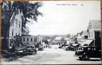 1949 Postcard: Main Street/Downtown - Milo, Maine ME