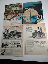 1967 Motorcycle BSA Harley Davidson  Magazine Advertisement Ads Lot 2