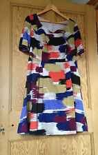 Ladies PEPPERBERRY 100% Cotton Multi Coloured Summer Dress Size 16 Super Curvy