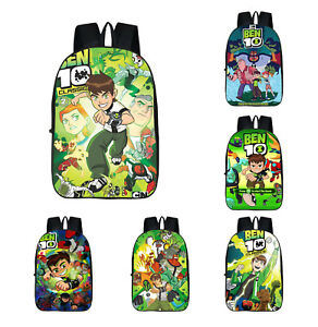 Ben 10 School Backpack Boys Shoulder Bag 3D Print Canvas Travel Bag Kids Gift