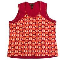 Tommy bahama golf athletic sleeveless tank top polka dot pink orange size xl