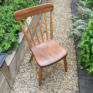 Vintage Wood Rustic Chair, Primitive Farmhouse Decor