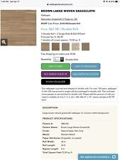NÉE Real Natural Sea Grass Grasscloth Wallpaper Covers 72 sq ft
