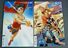 DC UNIVERSE SUPERMAN # 25 VAR AND DC UNVERSE WONDER WOMAN # 762 VAR TWO BOOK LOT