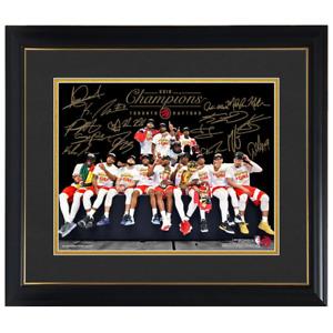 Toronto Raptors Team Champions Photo Facsimile Signatures Official NBA Frame