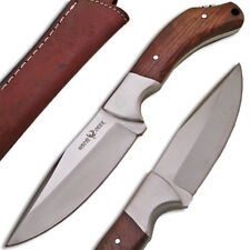 WHITE DEER Full Tang J2 Steel Tactical Knife Walnut Grip Drop Point Hunters Ltd.