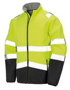 Warnschutz Softshelljacke Regenjacke Arbeitsjacke Warnweste  warngelb