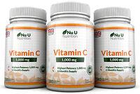 Vitamin C 1000 MG Nu U 3 Flaschen Super Stark 540 Tabletten 100% Garantie