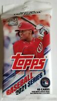 ✅⚾️🔥2021 Topps Series 1 Cello Pack- 40 Cards Per Pack- Factory Sealed