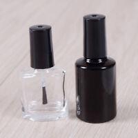 Botella esmalte uñas vacía vidrio transparente manicura recargable con pincel