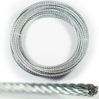 30m – 2mm Wire Rope Lashing Cable – Zinc Plated Steel Stranded-Metal Hoist Line