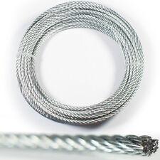 30m – 3mm Drahtseil Tauwerk Kabel – Verzinkter Stahl