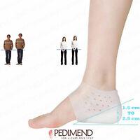 PEDIMEND Silicone Height Increase Socks Heel Lift Gel Insoles (2 PCS) - UNISEX